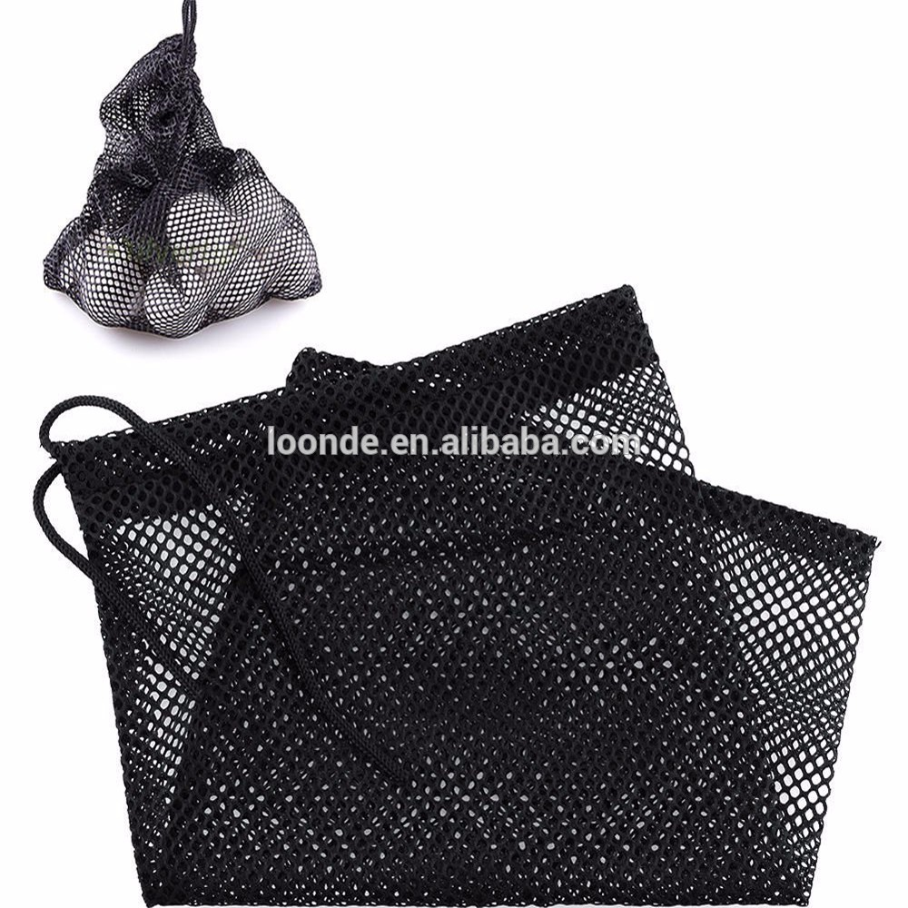 Wholesale nylon net mesh packing bag for balls carrying holder