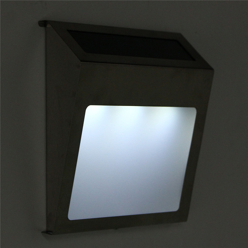 20lm Solar Powered 3 LED Solar Light Outdoor House Address Door Number Doorplate Lamp Wall Lamp Waterproof IP44