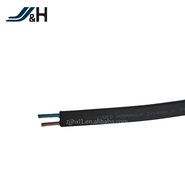 VDE 2X1.5mm2 Flat Rubber Cable H05RNH2-F