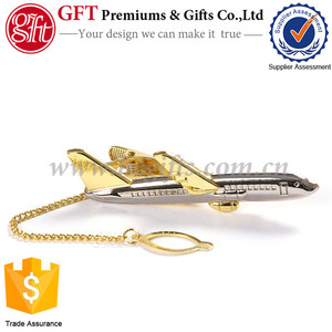Custom Promotions High Quality Airplane Tie bar Souvenir Plane DesignTie Clips GFT-TC44