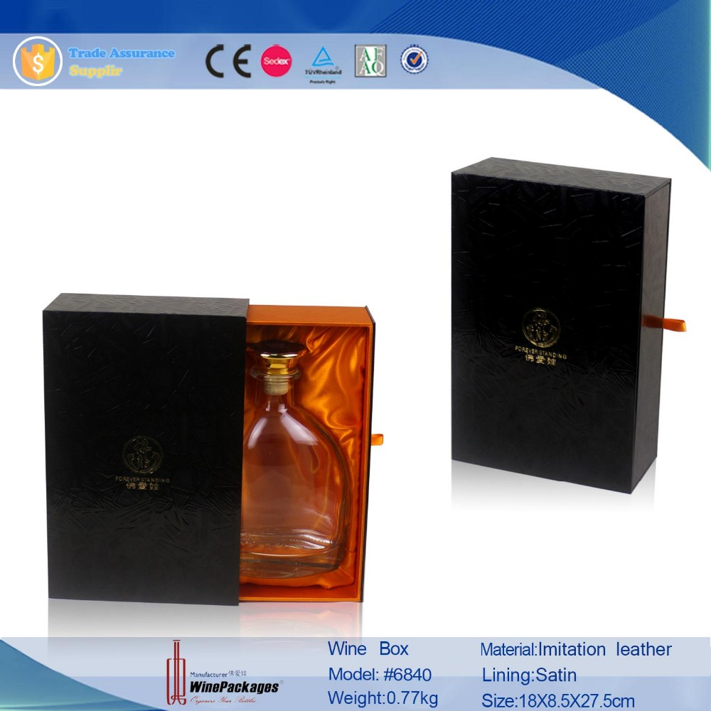 Luxury paper on wine gift box for WHISKY