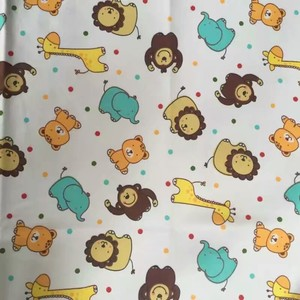 organic custom printed cotton mull bulk flannel fabric for baby