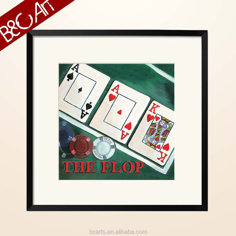 Funny poker King Ace playing card art painting for gambling house