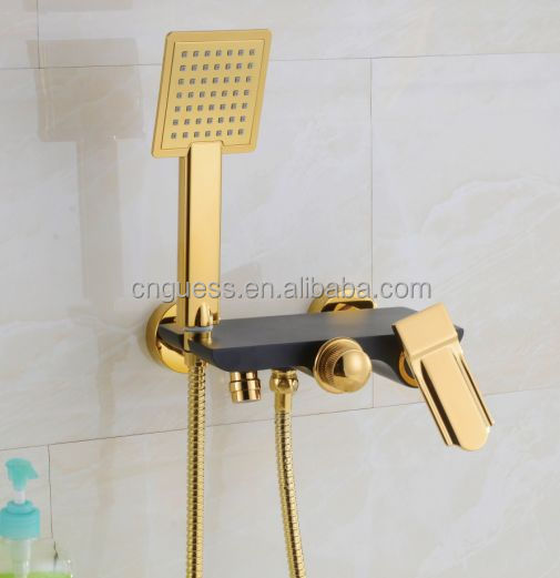 Gold Color Bath And Shower Faucet Hidden Shower Mixer E