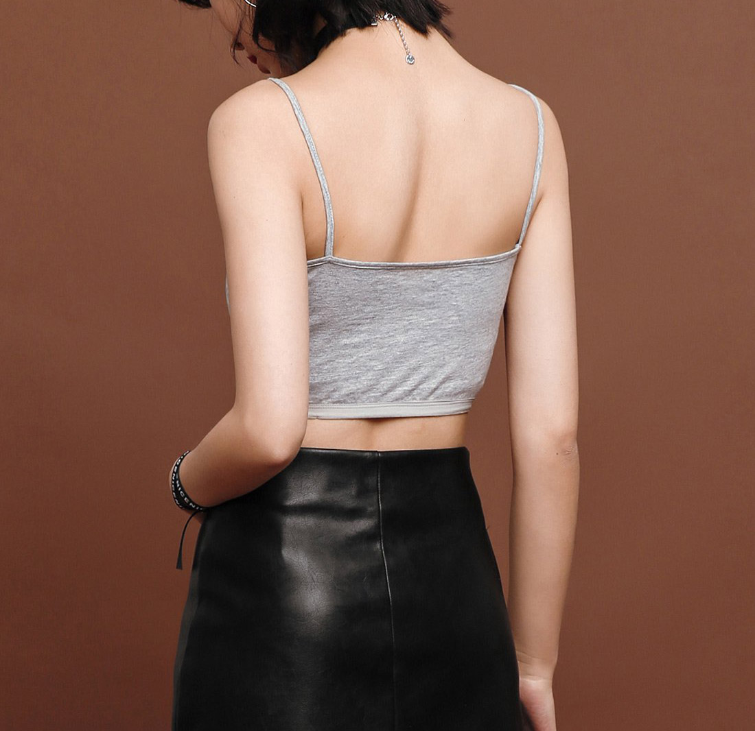 The Basic Style Of Women's Halter Top  Slim