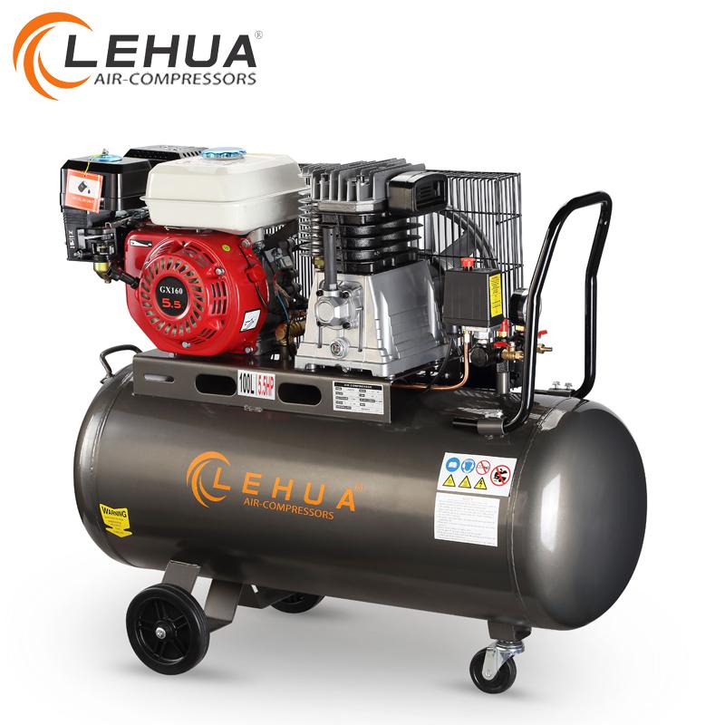 Compresor de aire accionado por la correa del pistón del motor de gasolina 100L 200L