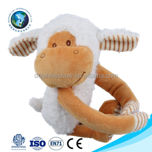 Meet EN71 Standard super soft baby blanket with sheep toy custom cute plush soft baby blanket toy