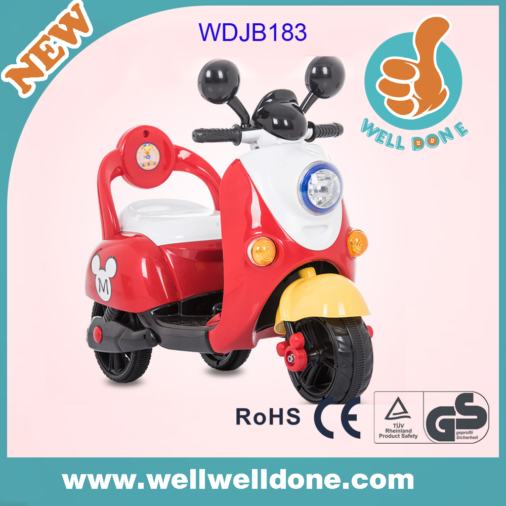 2016 kids ride on car new car racing games online, with music and light, power display child motorcycle, with umbrella WDJB183