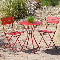 Outdoor Portable Folding Bistro Table And Chairs Set - Buy ...