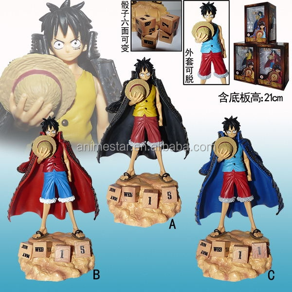 One Piece 3 Colors Luffy Action PVC Figure 21cm