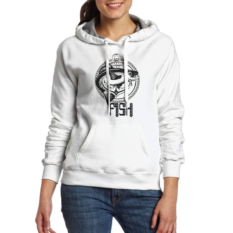 WE3sd Hoodies Fish Neon Cartoon Women's Long Sleeve Sweatshirt Hoodie Casual Pockets Hoodie Tops Hoodies