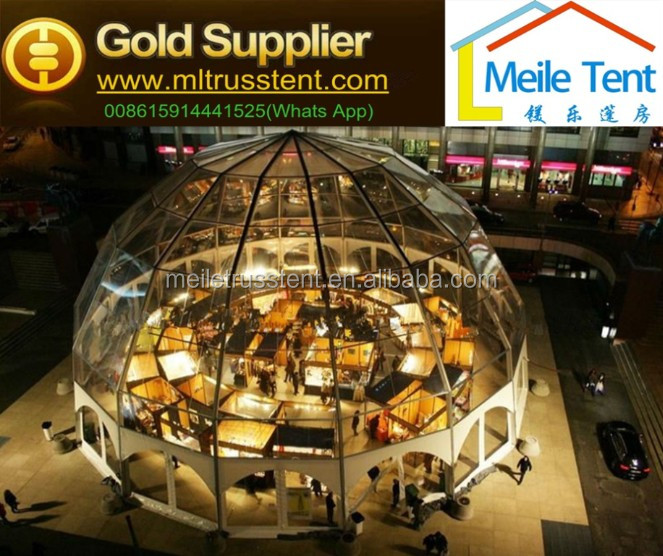 2000 sqm luxurious aluminum dome tent,round shaped tent for events