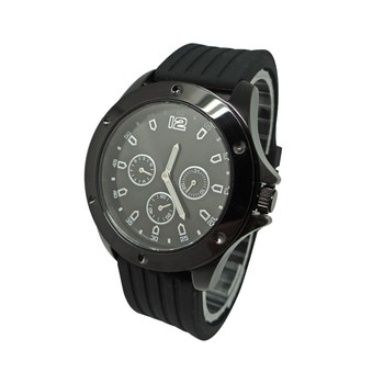 black plating case UP numbers dial watch, six hands watch, stainless sports watch for men