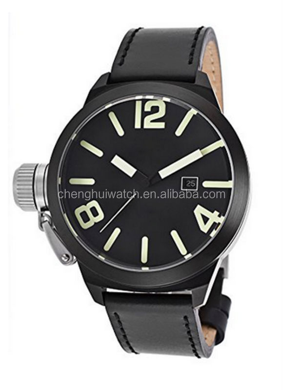 2017 customized own logo fashion stainless steel chain black color wrist watch
