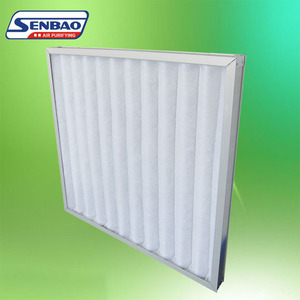 G3 Aluminum Frame Non-woven Fabric pleated panel air filter
