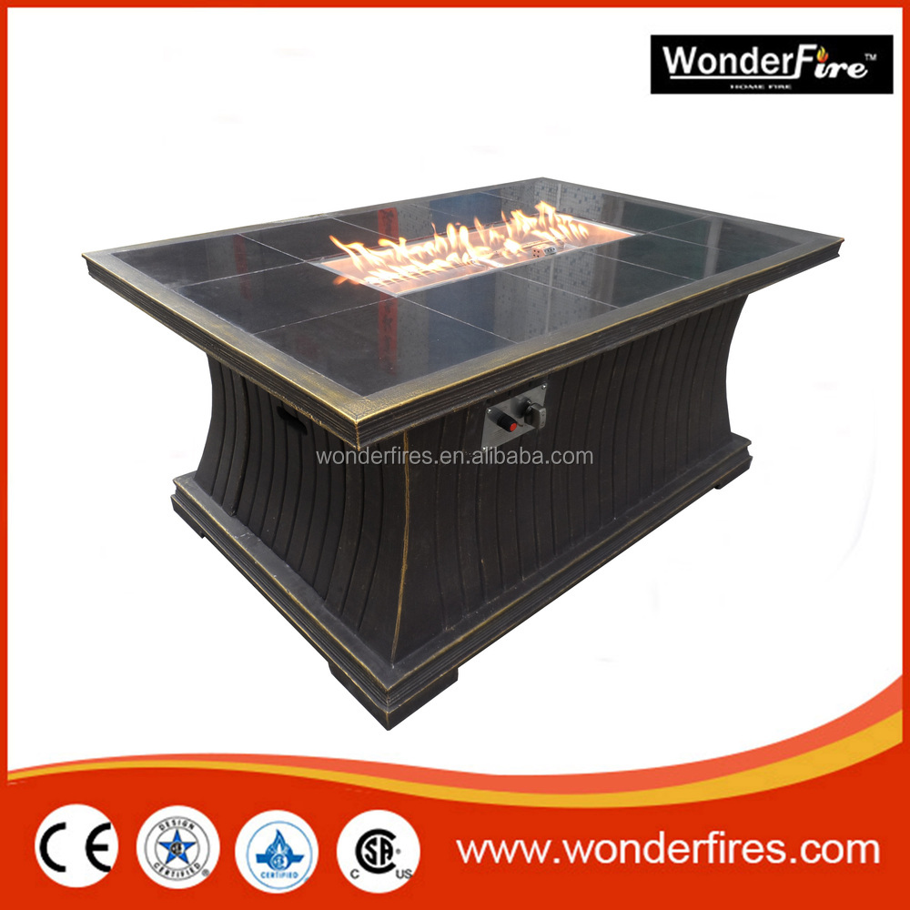Outdoor Fire Pit Table/patio Heater/SUS Burner Ststem/Fire Glass/lava