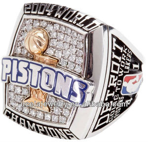 Replica 2004 Detroit Pistons basketball sports championship rings