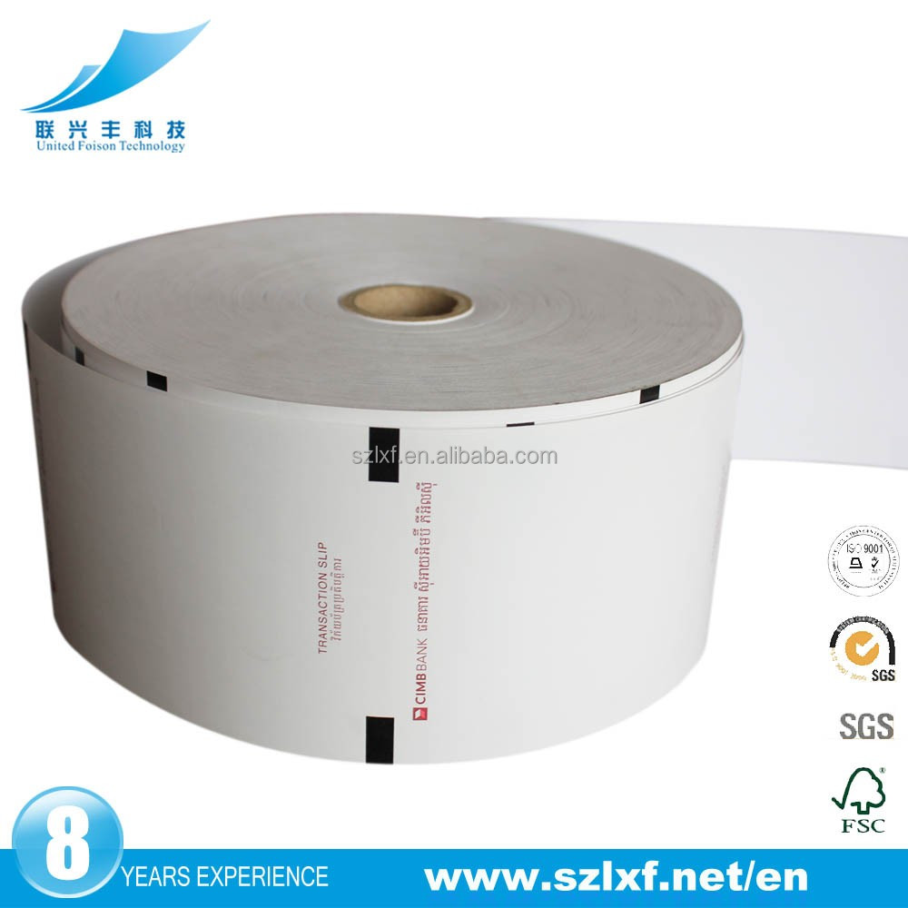 bank bill papers thermal printing rolls from paper manufacturer