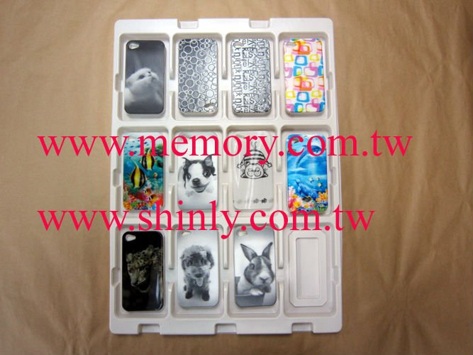 plastic clamshell tray for apple iphone case 4 4s 3 cover housing
