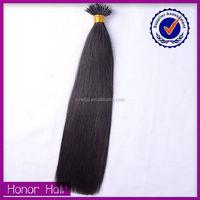 Thick bottom silky straight nano ring/loop virgin 100% indian human hair extension