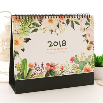 New year bulk desk table pad printing calendar 2018