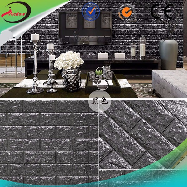 3d soft wallpaper plastic board 3D Self Adhesive Brick Wallpaper wonderful color 3d wall panel