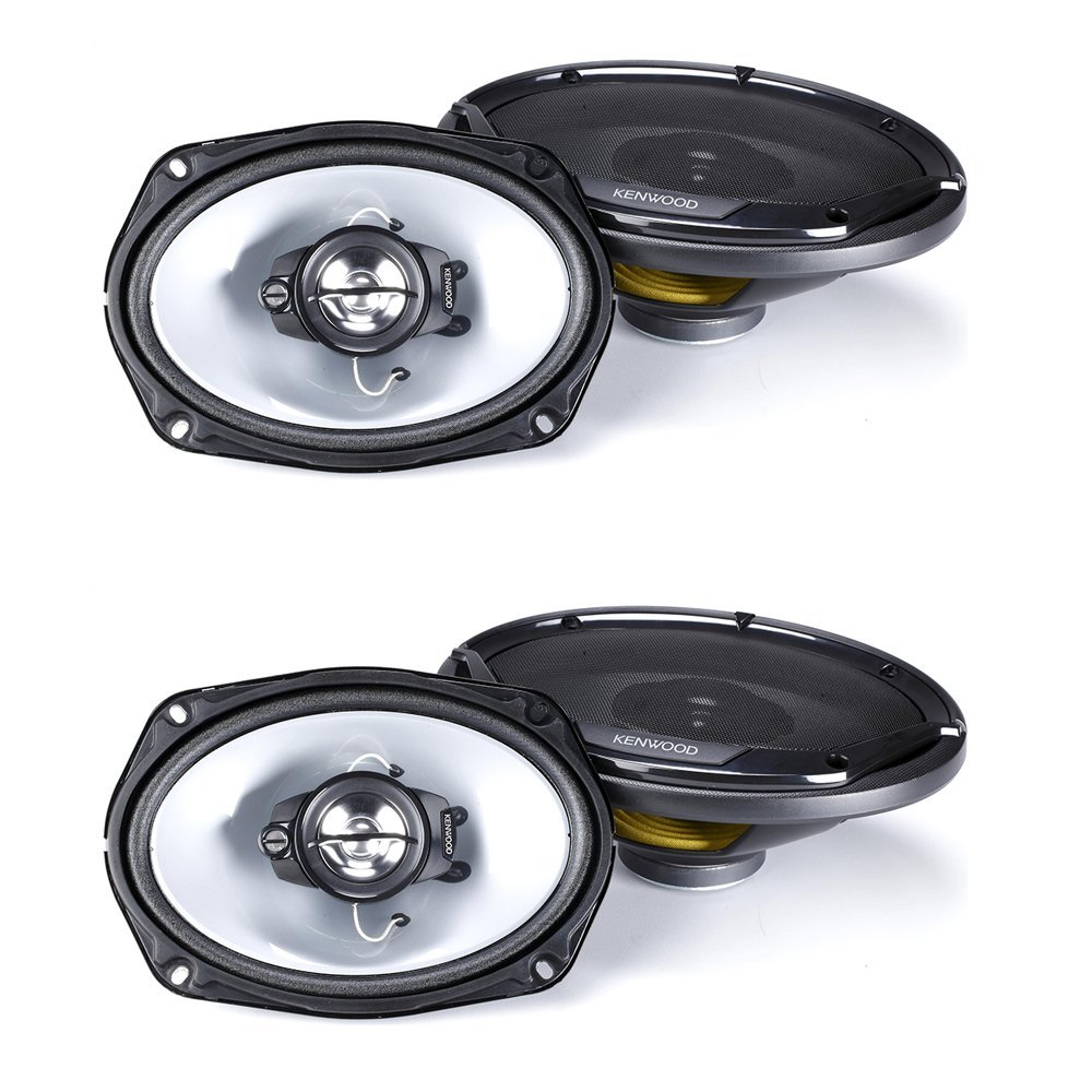 "Kenwood KFC-6965S 90W 6x9"" 3-Way Sport Series Coaxial Speakers w/ PEI Cone Tweeters ( 2 pairs)"