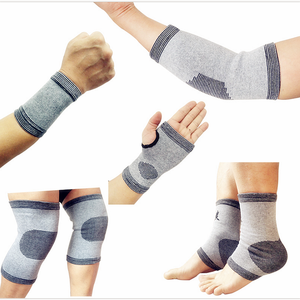 Fitness Bamboo Fiiber Sports Set Wristbands Elbow Support Ankle Riding Gear Knee and Hands Pads