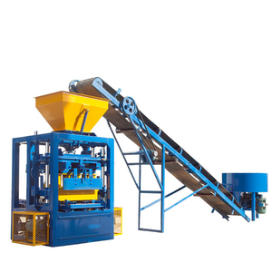 QT4-24 semi automatic concrete hollow block making machine for sale