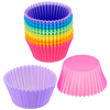 Nonstick Reusable Silicone Cupcake Mold Small Baking Cup Truffle Cake Pan Set