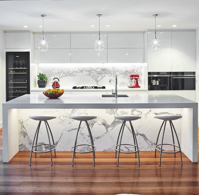 Moderno anti-scratch acrilico armadio da cucina disegni fatti da materiali Eco-Friendly