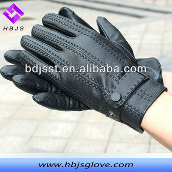 China Supplier Winter Mens Designer Leather Gloves With Tight ...