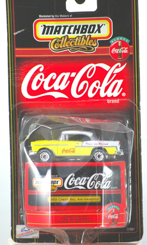 1998 - Mattel - Matchbox Collectibles - Coca-Cola - 1955 Chevy Bel Air Hardtop - 1:64 Scale - Die Cast Metal - New - OOP - Collectible