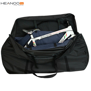 Black Outdoor Soft Cases bike Carrying folding bicycle transportation bag