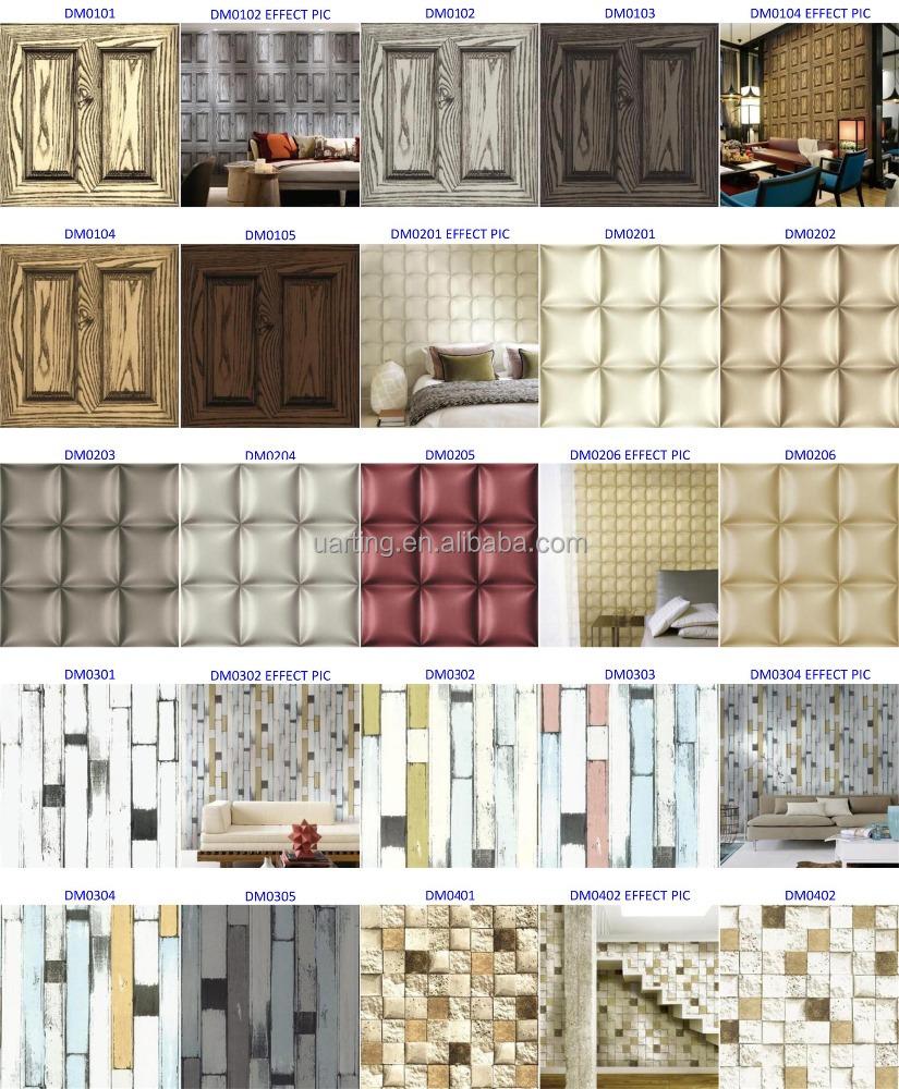 3D baksteen en steen behang/korea baksteen behang voor home ...