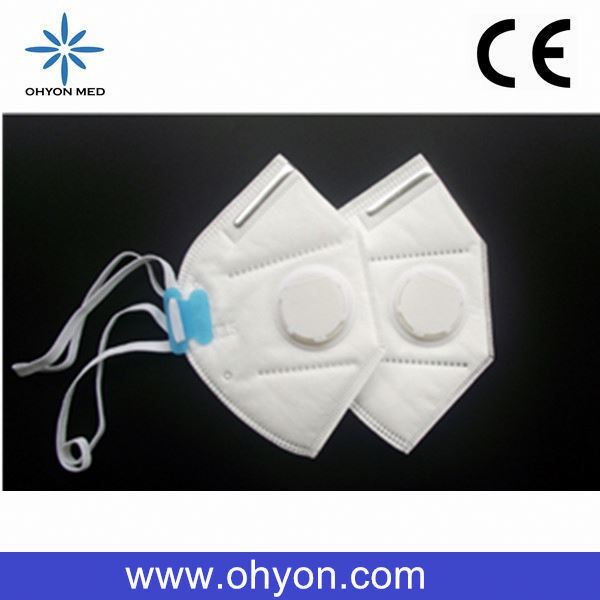 PN2.5 non-woven circular breathing valve face mask with elastic band