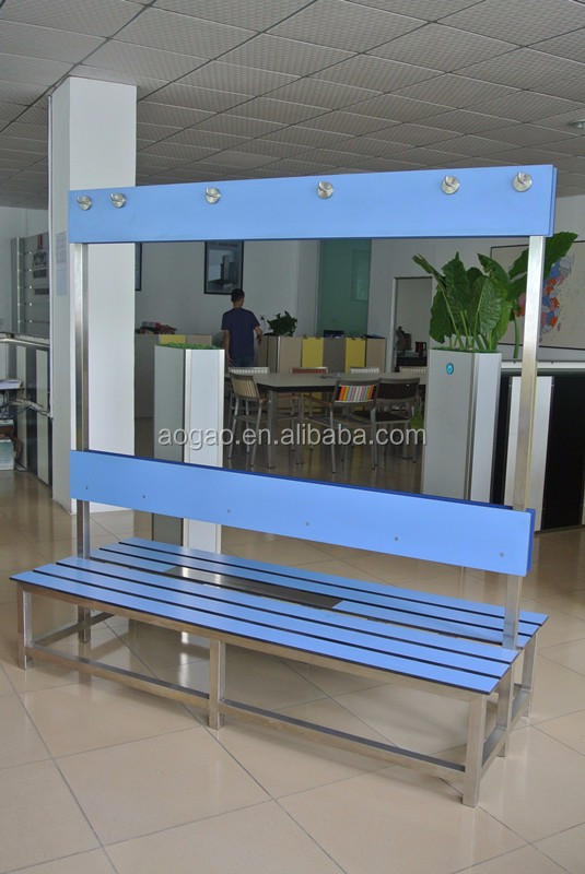 compact hpl laminate bench for locker room