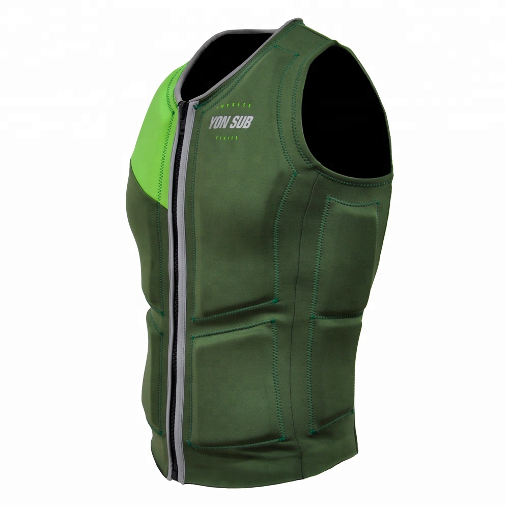New design high strech flexible <strong>life</strong> vest fluorescent green <strong>life</strong> <strong>jacket</strong> for sports swimming suitable for adult
