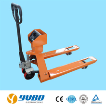 High lift hydraulic hand pallet truck with weight scales