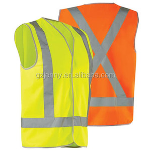 Chinese Factory Wholesale Workwear Hi-Vis 'X' Pattern Day/Night Safety Vest