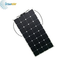 Sunpower Semi <span class=keywords><strong>Flexible</strong></span> Solar Panel Nur 2mm Dicke 100 watt <span class=keywords><strong>Flexible</strong></span> Solar Panel Verwendet Elektrische Golf Auto
