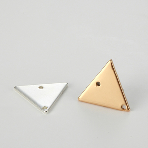 LOYALTY G2602 Small Triangle Silver Jewelry Pendant Stainless Steel Gold Necklace Pendant