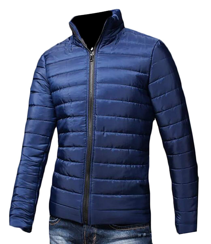 WSPLYSPJY Mens Packable Down Jacket Stand Collar Lightweight Puffer Coats