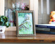 Rectangular Shape Geometrical Design Zinc Alloy Metal photo frame gift alloy embossed family pictures frame CHina supplier