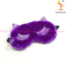 Wholesale Eye Mask Cute purple Cat Plush Eye Masks