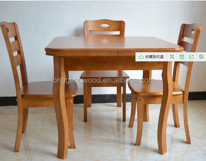 Extention Solid Wood Dining Set Rubber Oval Table Room Furniture