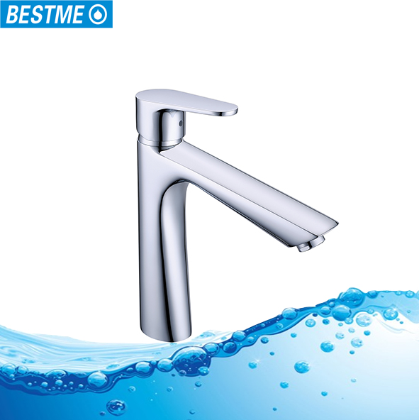 Bestme high quality single handle long neck above counter led faucet light