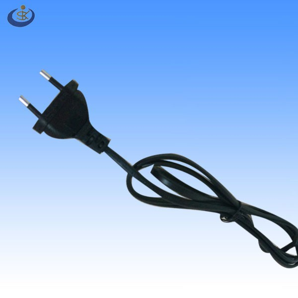 hot sale high quality EN 50075 2 PINS 2.5A 250V flat euro power plug