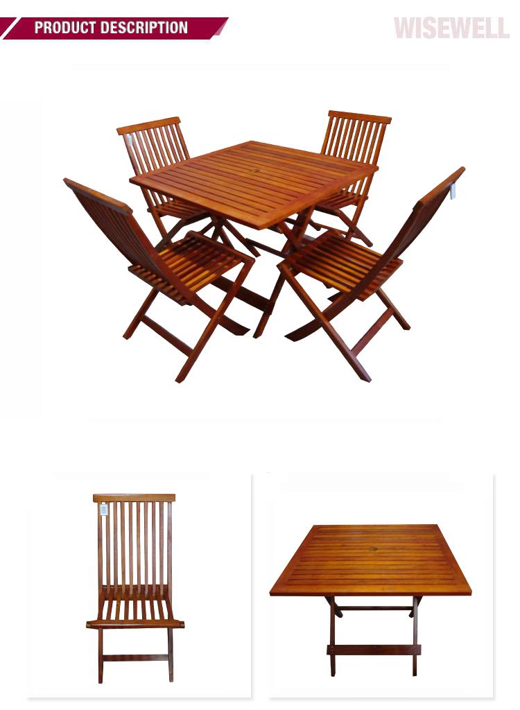 Tavolo E Sedie In Legno Da Giardino.Wg 5s 82 Mobili Da Giardino In Legno Pieghevoli Tavolo E