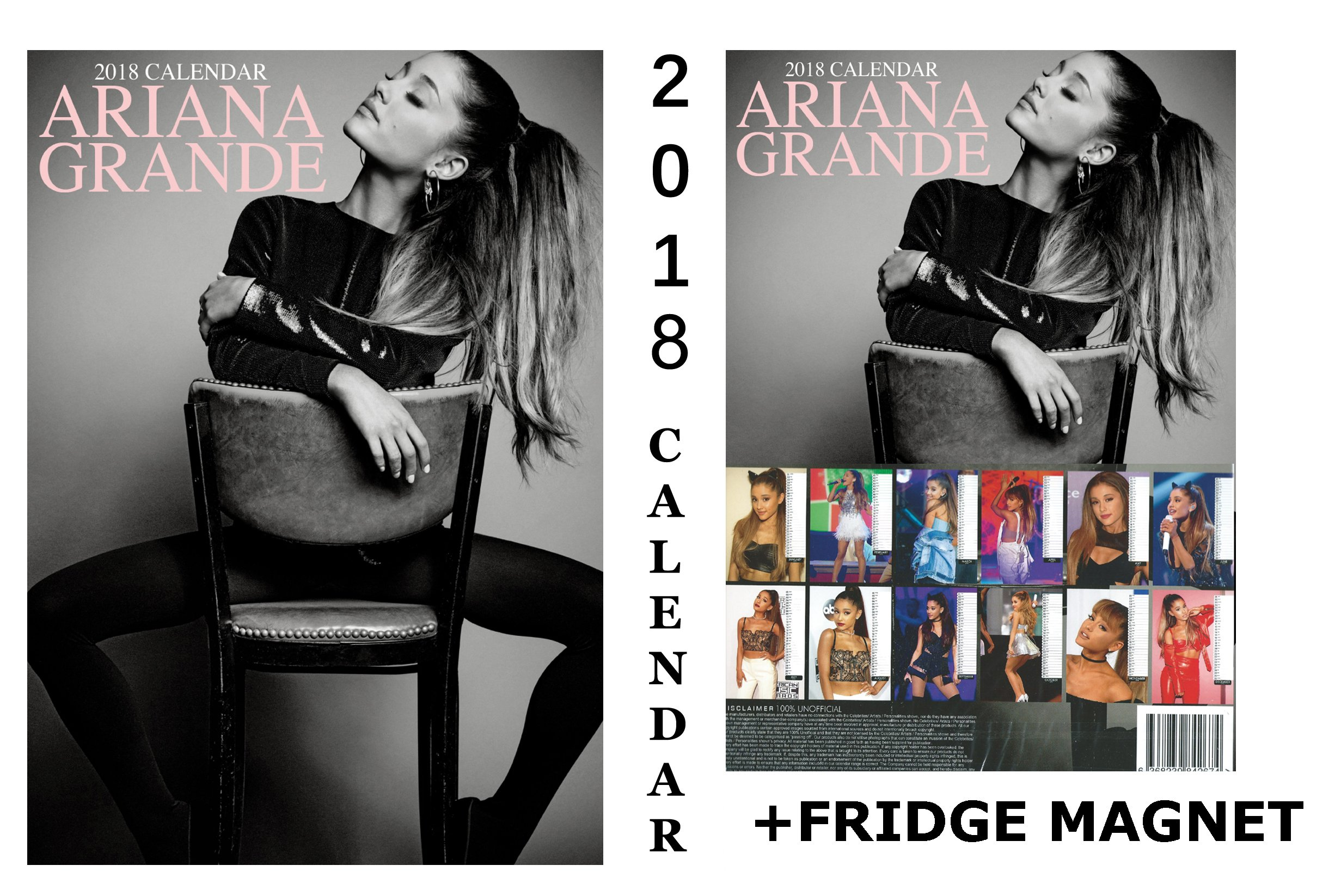 ARIANA GRANDE CALENDAR 2018 + ARIANA GRANDE FRIDGE MAGNET